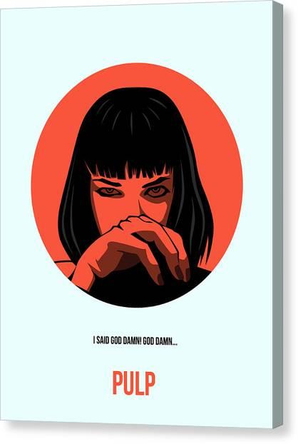 Pulp Fiction Canvas Print - Pulp Fiction Poster 4 by Naxart Studio