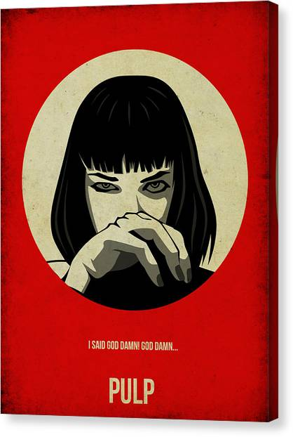 Movies Canvas Print - Pulp Fiction Poster by Naxart Studio