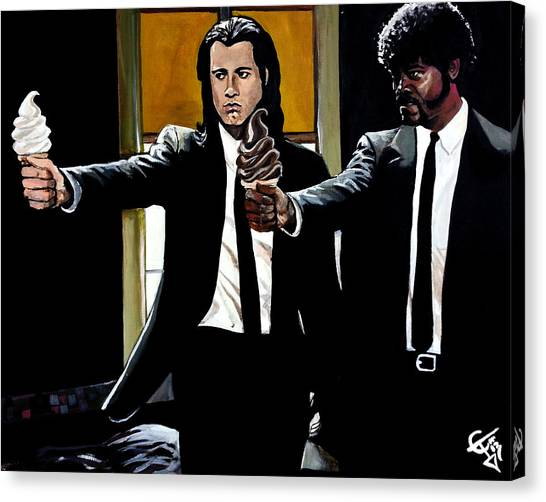 Pulp Fiction Canvas Print - Pulp Ice Cream by Tom Carlton