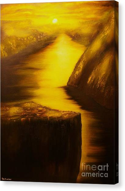 Pulpit Rock-preikestolen-original Sold-buy Giclee Print Nr 27 Of Limited Edition Of 40 Prints  Canvas Print by Eddie Michael Beck