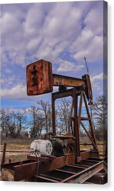 Pump Jack Canvas Print by Kelly Kitchens