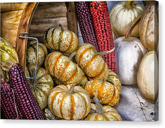 Pumpkin Basket Canvas Print