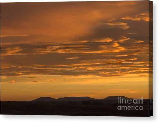 Pumpkin Buttes At Sunrise Canvas Print