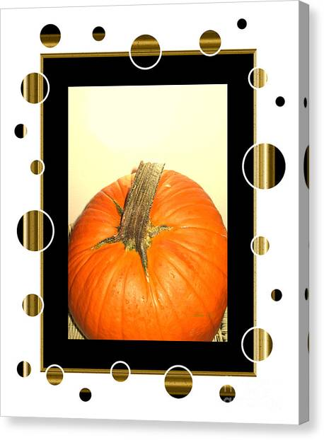Pumpkin Card Canvas Print