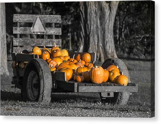 Pumpkin Cart Canvas Print