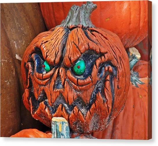 Pumpkin Face Canvas Print