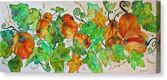 Pumpkin Harvest Time Canvas Print