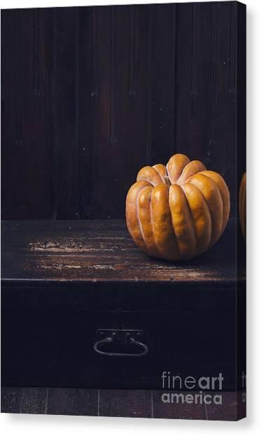 Dinner Table Canvas Print - Pumpkin by Jelena Jovanovic