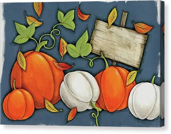Pumpkin Patch Canvas Print - Pumpkin Patch by Anne Tavoletti