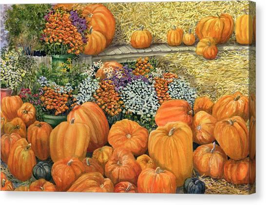 Pumpkin Patch Canvas Print - Pumpkin Patch by Karen Wright