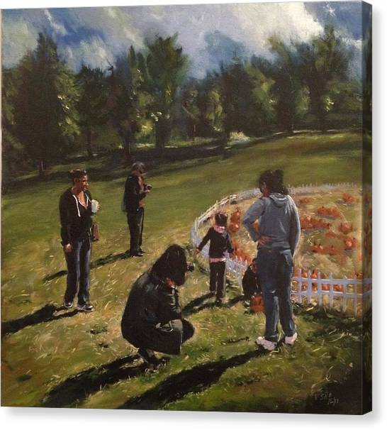 Ridgewood Canvas Print - Pumpkin Picking by Victor SOTO