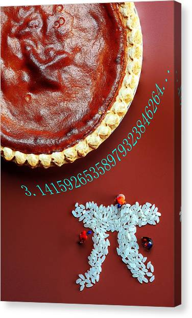 3.14 Canvas Print - Pumpkin Pie And Pi Food Physics by Paul Ge