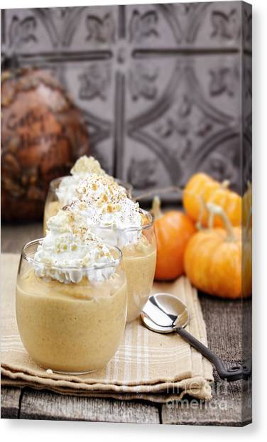 Smoothie Canvas Print - Pumpkin Smoothies by Stephanie Frey