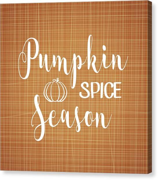 Autumn Canvas Print - Pumpkin Spice by Tamara Robinson