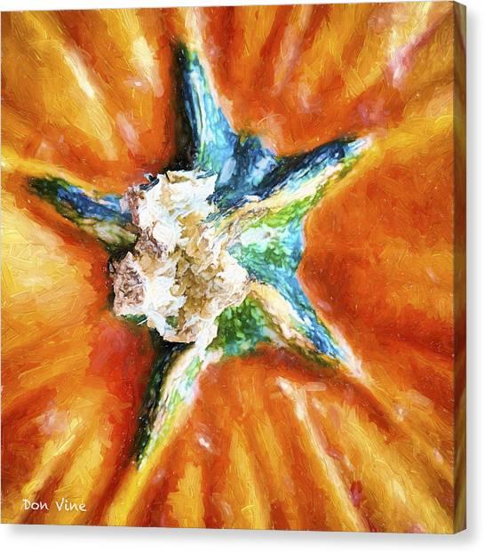 Pumpkin Star Canvas Print