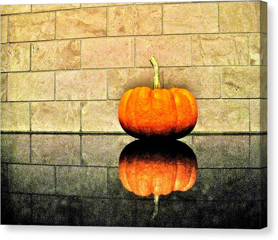 Pumpkin Still Life Canvas Print