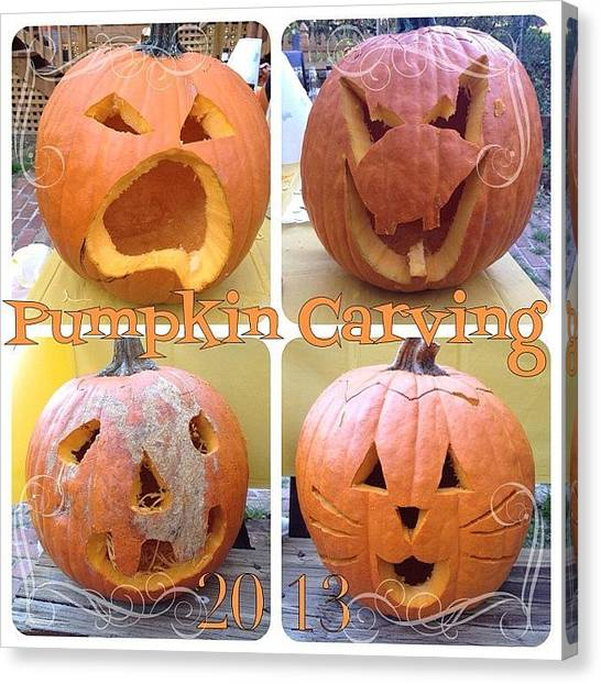 Halloween Canvas Print - #pumpkincarving #party Yesterday With by Teresa Mucha