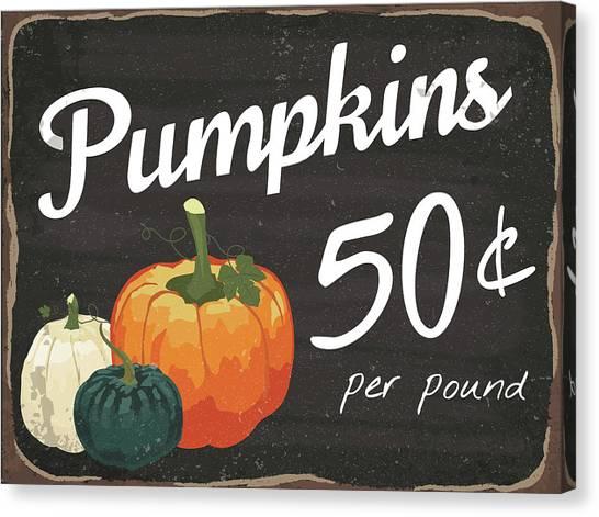 Pumpkin Patch Canvas Print - Pumpkins 50? by Nd Art & Design
