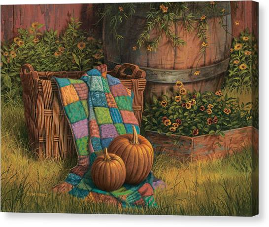 Pumpkins Canvas Print - Pumpkins And Patches by Michael Humphries