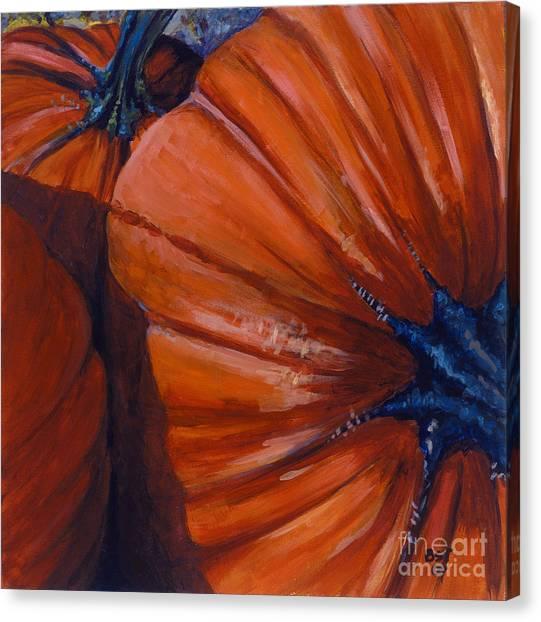 Pumpkins Canvas Print by Betsee  Talavera