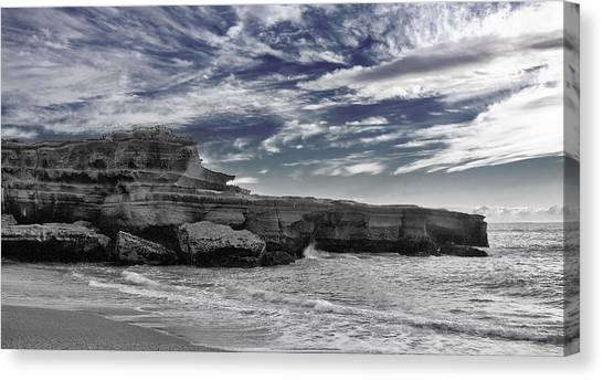 South island nz canvas print punakaiki truman track 4 black and white by