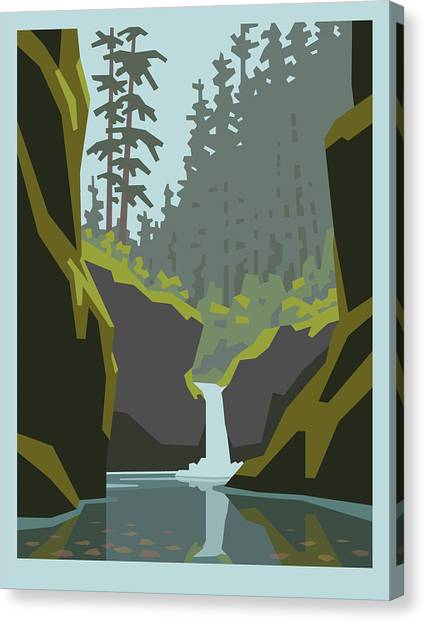 Eagles Canvas Print - Punch Bowl Falls by Mitch Frey