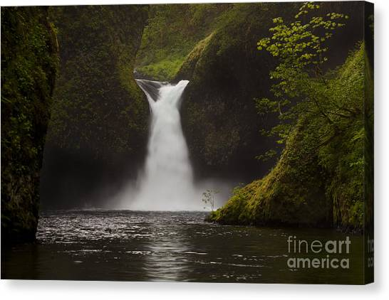 Oregon State Canvas Print - Punchbowl Falls by Keith Kapple