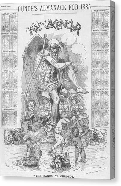 Punch's Almanack For 1885 Canvas Print