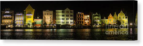 Punda At Night Panoramic Canvas Print