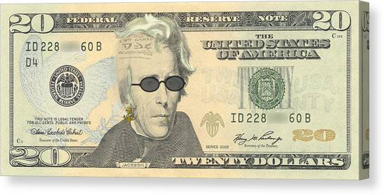 Punk 20 Dollar Bill Canvas Print