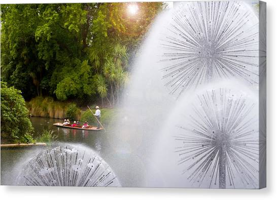 Punting On The Avon Canvas Print