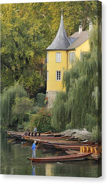 Baden Wuerttemberg Canvas Print - Punts In Lovely Tuebingen Germany by Matthias Hauser