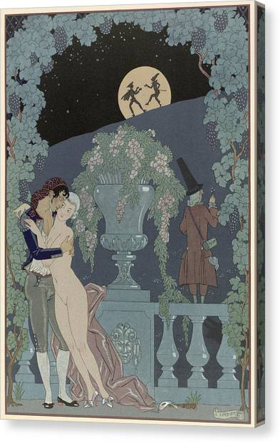 Confession Canvas Print - Puppets by Georges Barbier