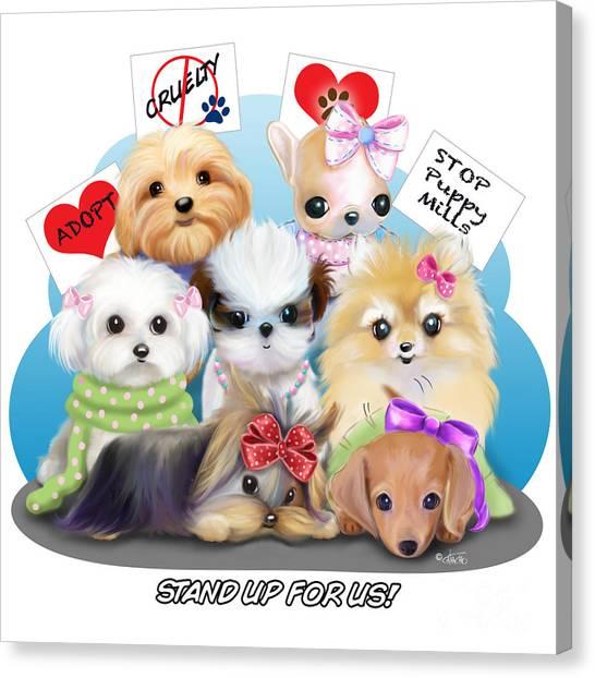Puppies Manifesto Canvas Print