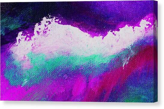 Pura Aqua Green Pink Canvas Print by L J Smith