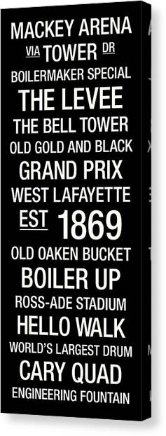 Purdue University Canvas Print - Purdue College Town Wall Art by Replay Photos