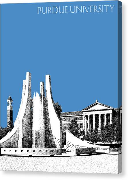 Purdue University Canvas Print - Purdue University 2 - Engineering Fountain - Slate by DB Artist