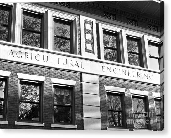 Purdue University Canvas Print - Purdue University Agricultural Engineering by University Icons