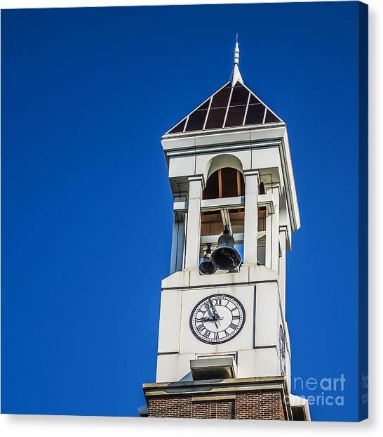 Purdue University Canvas Print - Purdue University Bell Tower Clock by David Haskett II