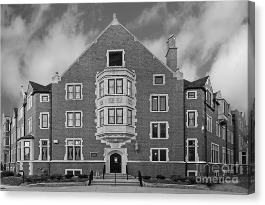 Purdue University Canvas Print - Purdue University Duhme Residence Hall by University Icons