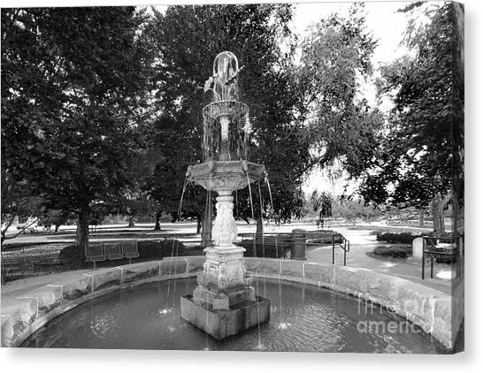 Big Ten Canvas Print - Purdue University Fountain by University Icons