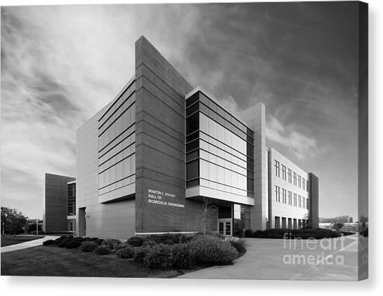 Purdue University Canvas Print - Purdue University Jischke Hall Of Biomedical Engineering by University Icons