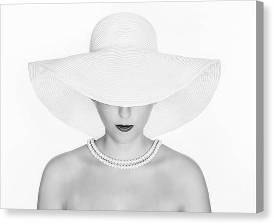Lady Canvas Print - Pure White by Pauline Pentony Ba