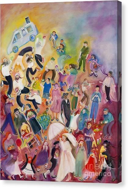 Purim Canvas Print by Chana Helen Rosenberg