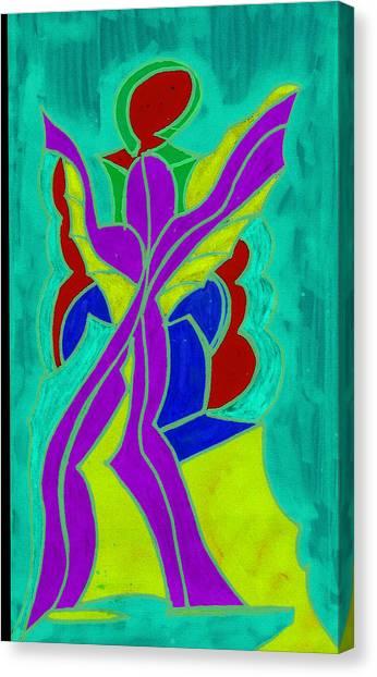 Purple Angel  Canvas Print by Ken Gidge