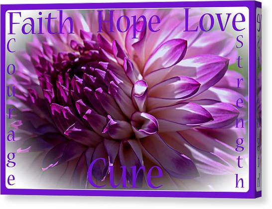 Purple Awareness Support Canvas Print