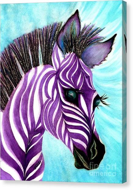 Purple Baby Zebra Canvas Print