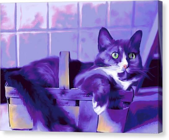 Purple Basket Case Canvas Print