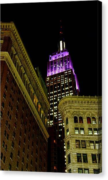 Purple Beacon Canvas Print