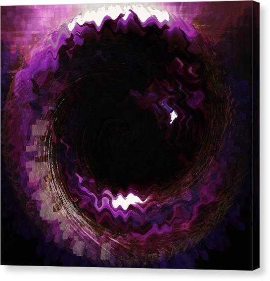 Purple Blackhole  Canvas Print
